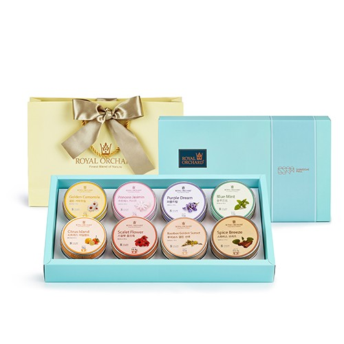 [Royal Orchard] Silver Tin 8 Giftset
