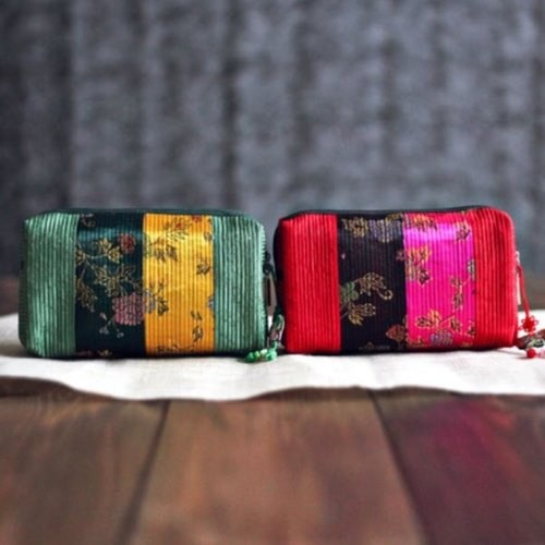 [palbok] Quilted Square Pouch (Flower)