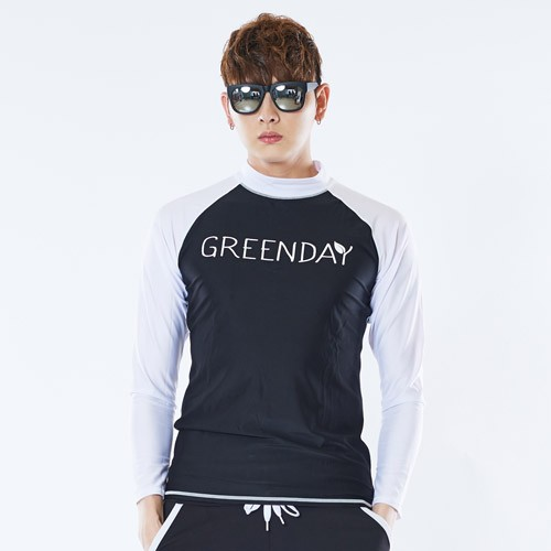 [GREENDAY] Sereno Men's Long Sleeve Rashguard
