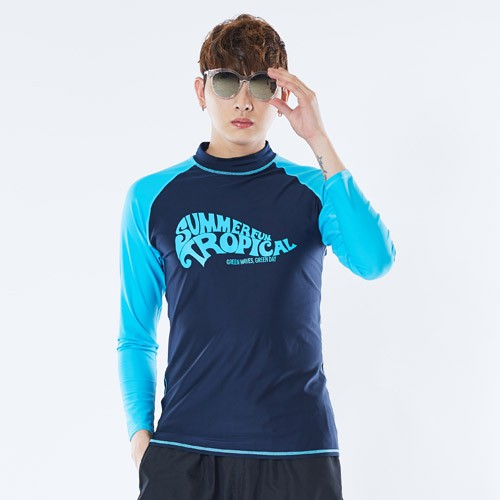 [GREENDAY] Tropical Men's Long Sleeve Rashguard