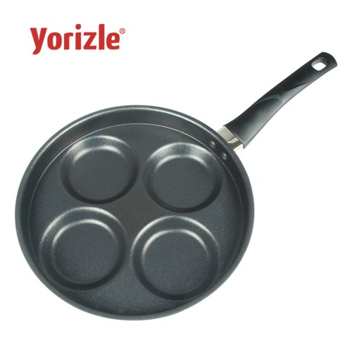 [Yorizle] Multi Purpose 4 Round Divided Egg Pancake Frying Pan 24cm