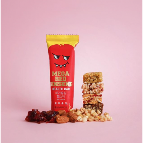 [NUBLOOM] MEGA RED GINSENG HEALTH BAR (12EA/1BOX)