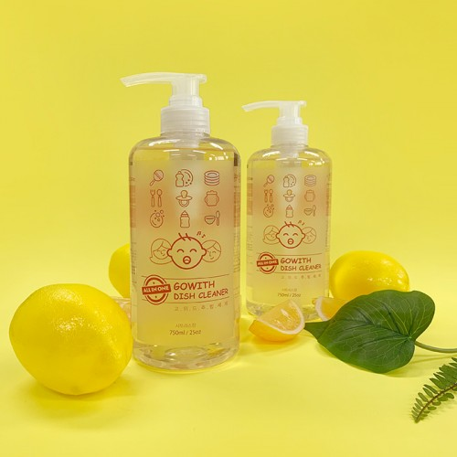 [GOWITH] ALL IN ONE Nature Dish Cleaner (750ml + 750ml)