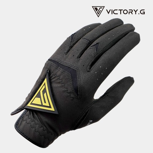 [Victory.G] Men's Functional Black(Yellow) Golf Gloves/Left/Right Hand (SIZE 22~26)