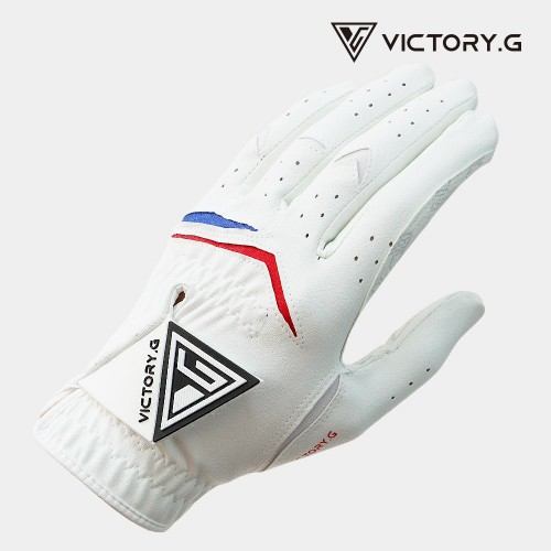 [Victory.G] Men's Non-Slip White(Black) Golf Gloves/Left/Right Hand (SIZE 22~26)