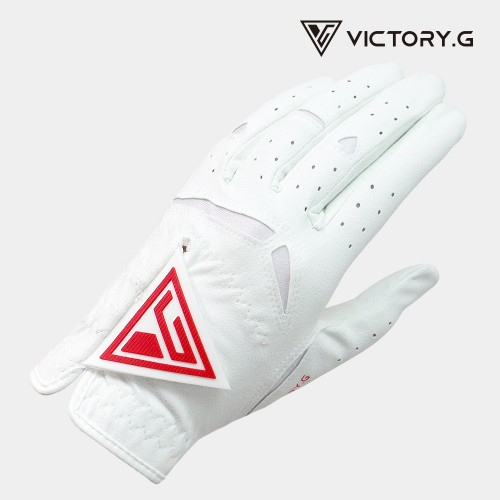 [Victory.G] Women's Functional White(Red) Golf Gloves/Pair Both Hand (SIZE 18~21)