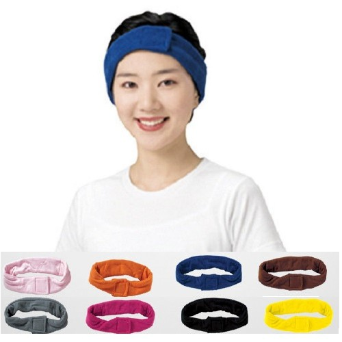 [Line] Cotton Towel Hairband (8 Colors)