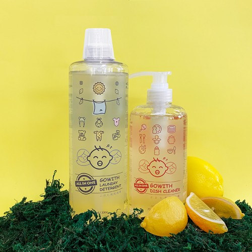[GOWITH] ALL IN ONE Nature / Dish Cleaner + Laundry Detergent SET (750ml + 1000ml)
