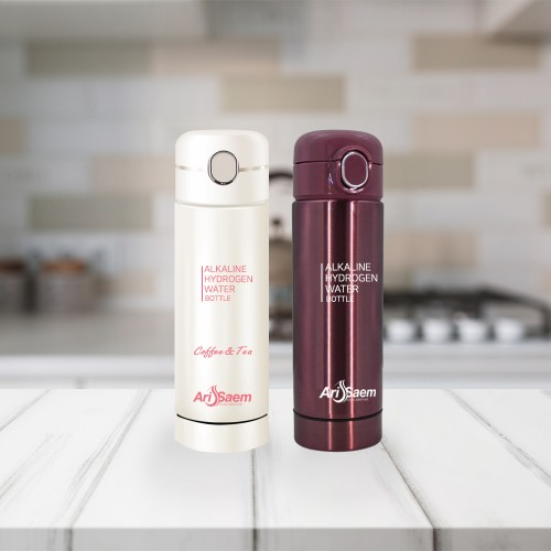 [ARISAEM] Hydrogen reduction themal insulation cold Tumbler (Rose Pink)