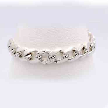 [DHcraft] Fleur de lis hand made real cutting chain bar bracelet (Silver 925)