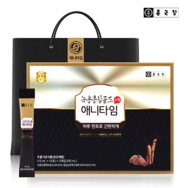 [Chong Kun Dang] (2+2) Deer Antlers & Red Ginseng Anytime Gold (10 ml x 30 stick x 4)