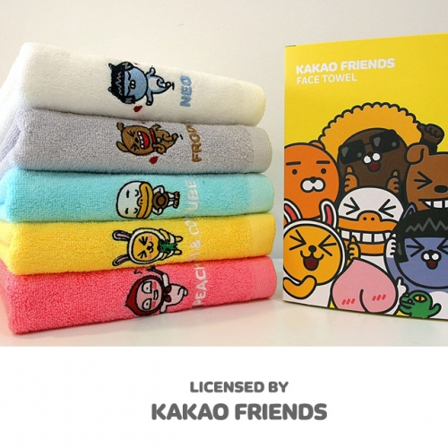 [Kakao Friends]Kakao Friends Official Goods_Kakao Friends face towel (150g, 1ea)