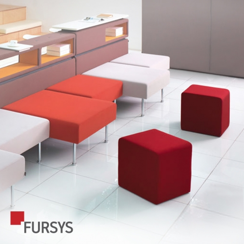 [FURSYS] SQUARE STOOL (FABRIC TYPE)