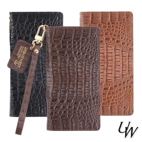 [URBANWEST] 100% Caiman Leather Handmade Cell Phone Case