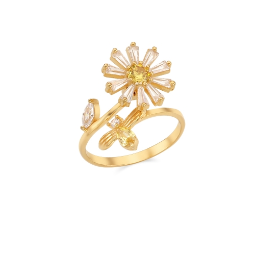 [MINWHEE ART JEWELRY] Flower cluster Turning Ring Silver925 (open ring)