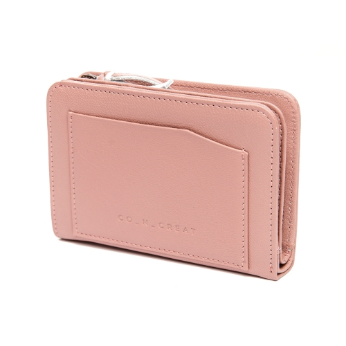 [CO_N_CREAT] Slip Pockets Small Womens Wallet Indian Pink