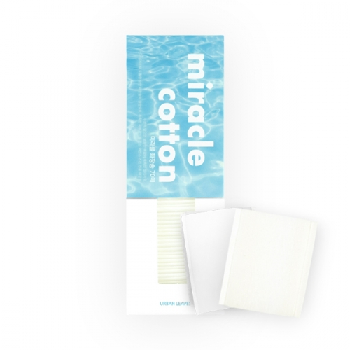 [URBAN LEAVES] Miracle Cotton Puff (70 sheets)