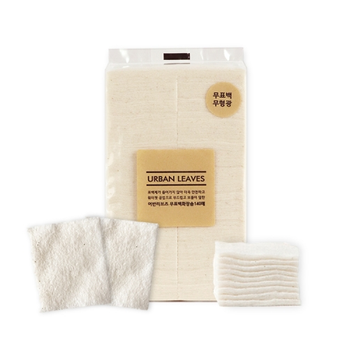 [URBAN LEAVES] UNBLEACHED COTTON PADS (140 sheets)