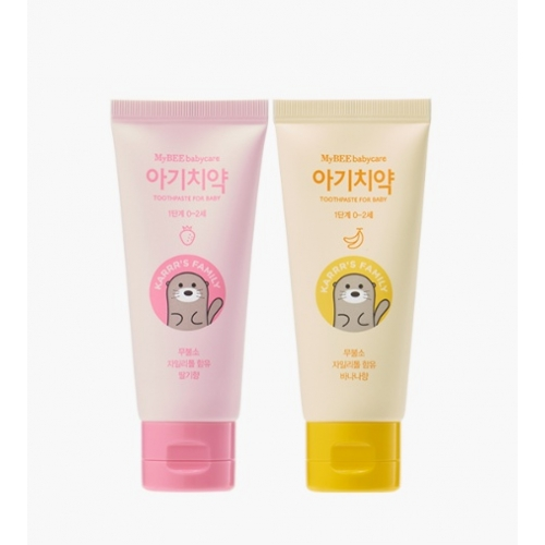 [Mybee] Toothpaste for Baby Step 1 (Strawberry & Banana)