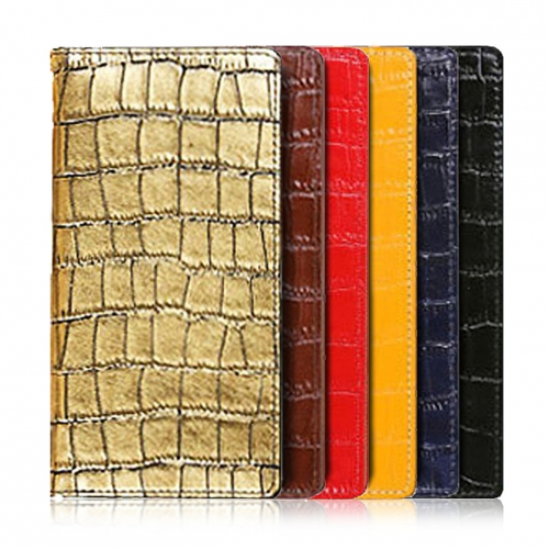 [URBANWEST] Croco Pattern Cow Leather Handmade Cell Phone Case for Samsung Galaxy, Apple iPhone, LG