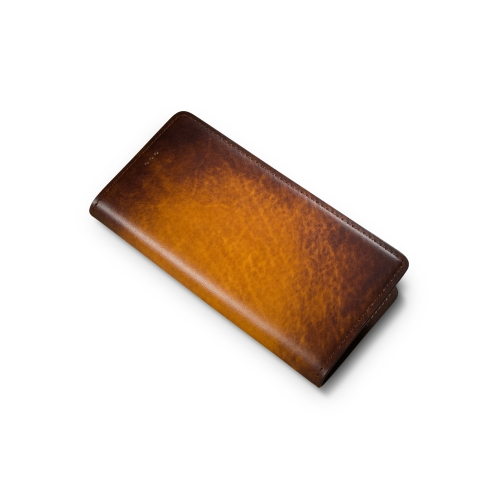 Andantannerie Leather Phone case Compatible with Galaxy S10, Handmade Leather flip Phone case (s10 2608)