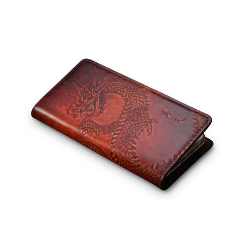 Andantannerie Leather Phone case Compatible with Galaxy S10, Handmade Leather flip Phone case (s10 2621)
