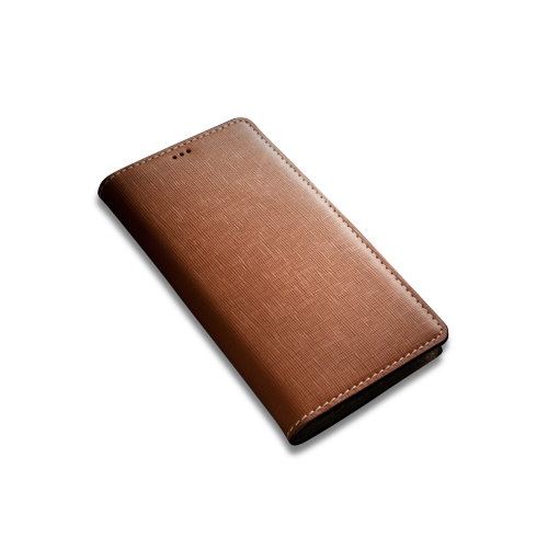 [Andantannerie] Leather Phone case Compatible with Galaxy S10, Handmade Leather flip Phone case (s10 2632c)