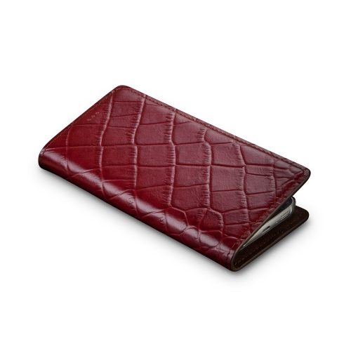 [Andantannerie] Leather Phone case Compatible with Galaxy S10, Handmade Leather flip Phone case (s10 2635)