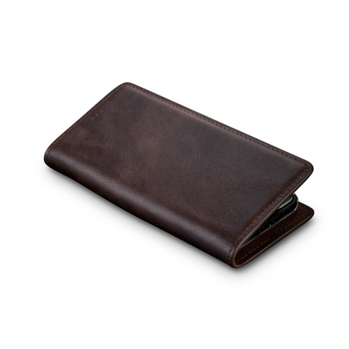Andantannerie Leather Phone case Compatible with Galaxy S10, Handmade Leather flip Phone case (s10 2653)