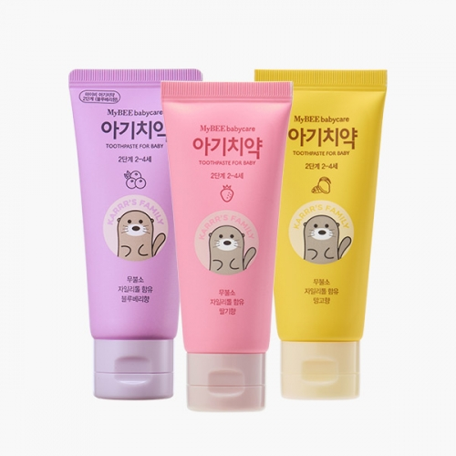[Mybee] Toothpaste for Baby Step 2_(50g, Strawberry & Mango)