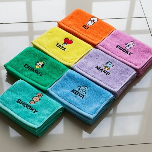 [BT21] sport Cotton Towel (100g / 1ea)
