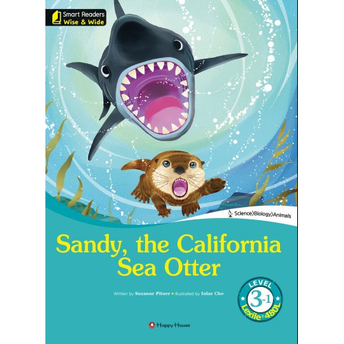 [darakwon] Smart Readers Wise & Wide 3-1 Sandy, the California Sea Otter
