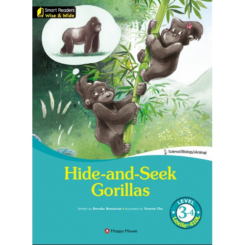 [darakwon] Smart Readers Wise & Wide 3-4 Hide-and-Seek Gorillas