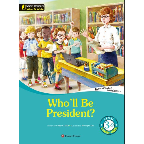 [darakwon] Smart Readers Wise & Wide 3-9 Who'll Be President?