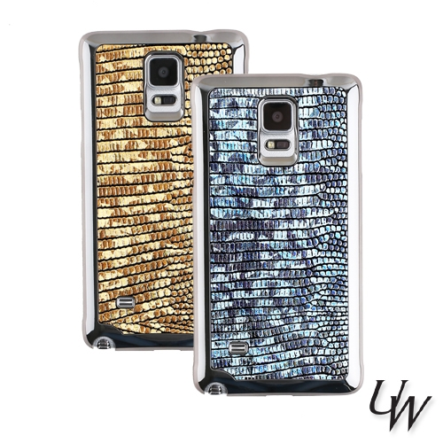[URBANWEST] Hologram Cow Leather Handmade Cell Phone Backcover Case for Samsung Galaxy, Apple iPhone, LG
