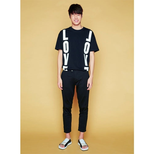 [JUSTO] LOVE LOVE T-SHIRTS [BLACK]