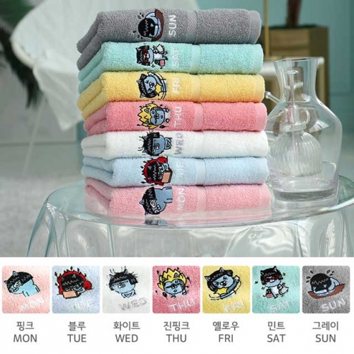 [Kakao friends] Kakao friends Daily towel ver2(office worker version) face towel (7ea / 115g)