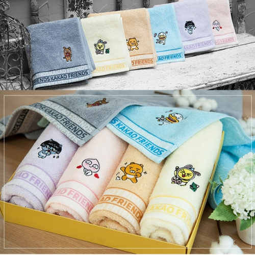 [Kakao Friends] combed yarn face towel(160g / 1ea)
