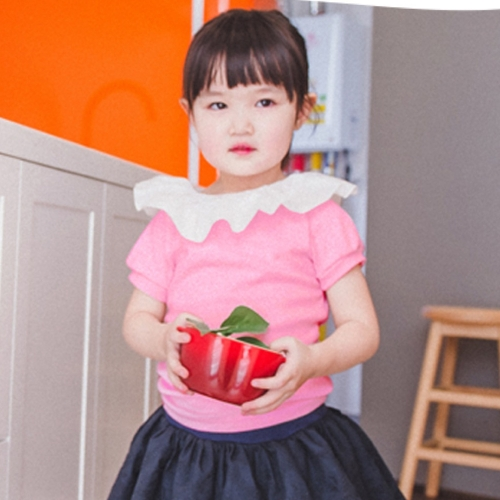 [WANDOOKONG] RORA FRILL TEE (short sleeve) - TODDLER GIRL