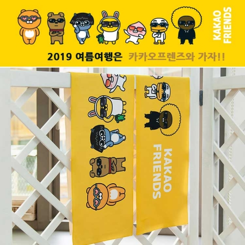 [kakao friends] microfiber suede sports towel(dry process)(45g, 1ea)