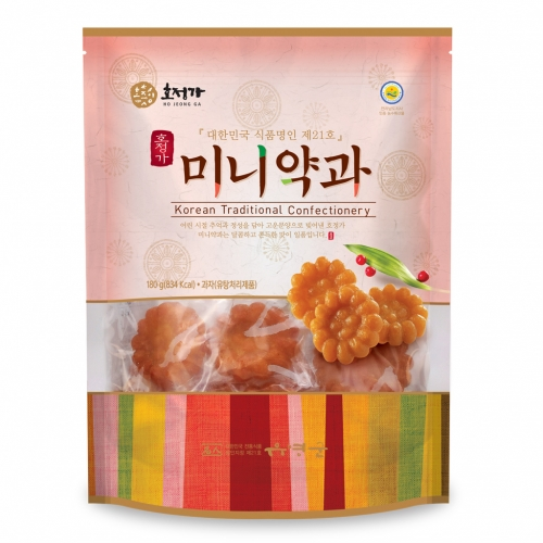 [Hojeongga] Glutinous Rice Mini Yakgwa (Deep-fried Honey Cookie) (180g)