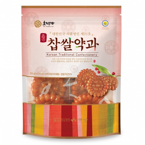 [Hojeongga] Glutinous Rice Yakgwa Deep-fried Honey Cookie (350g)