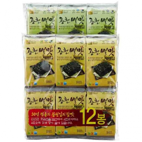 Gwangcheon  BYUL MAT Seasoned Laver  (Small Size Traditional Laver 12 Bundle Packing)