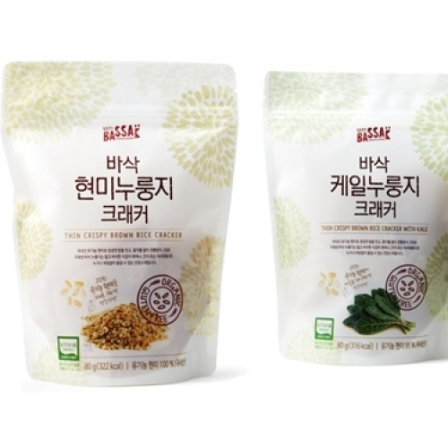 [BASSAK]THIN CRISPY BROWN RICE CRACKER (5EA)+ THIN CRISPY BROWN RICE CRACKER WITH KALE (5EA) (10EA)