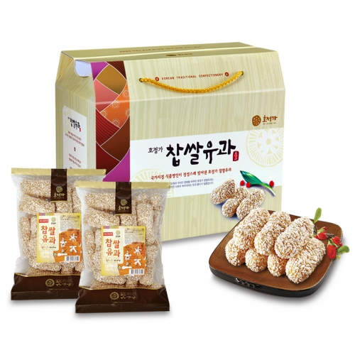 [Changpyeong Hangwa] Changpyeong Hangwa (Korean Traditional Confectionery) Yugwa Set (Deep-fried Sweet Rice Cake) (1kg)