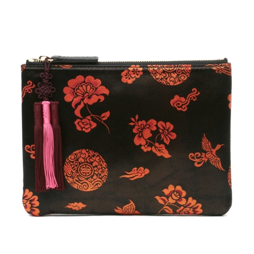 [Kesylang] Womens Clutch Bag of Traditional Pattern and Norigae combination Black