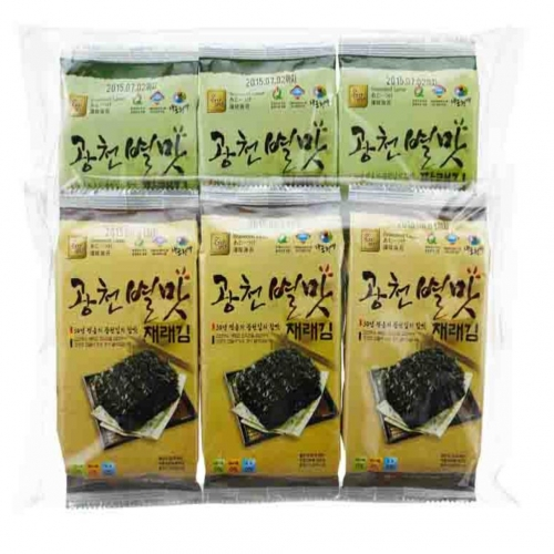 Gwangcheon  BYUL MAT Seasoned Laver  (Small Size Traditional Laver 3 Bundle Packing)