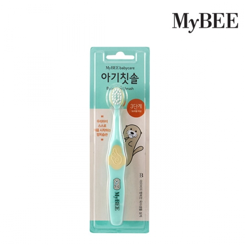 [Mybee] Baby Toothbrush Step 3 (Mint / Pink)