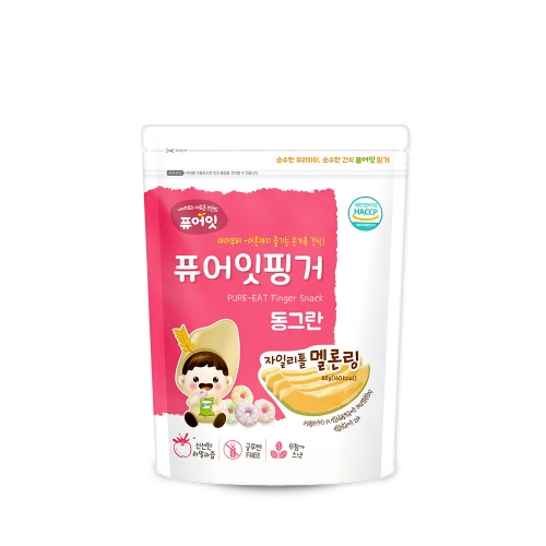 [NAEBRO] PURE-EAT Finger Brown Rice Xylitol Melon Ring (40g*6)