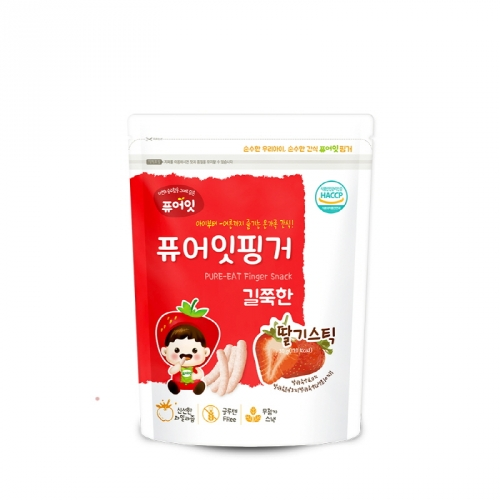 [NAEBRO] PURE-EAT Finger Brown Rice Strawberry Stick (30g*6)